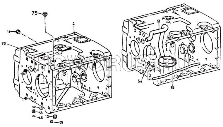 корпус коробки передач ZF
