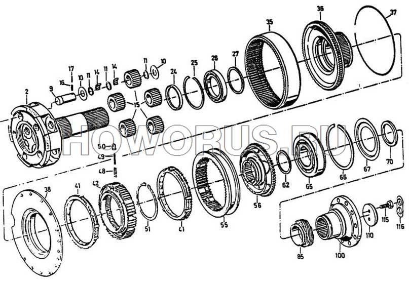 шестерня вспомогательной коробкой передач ZF