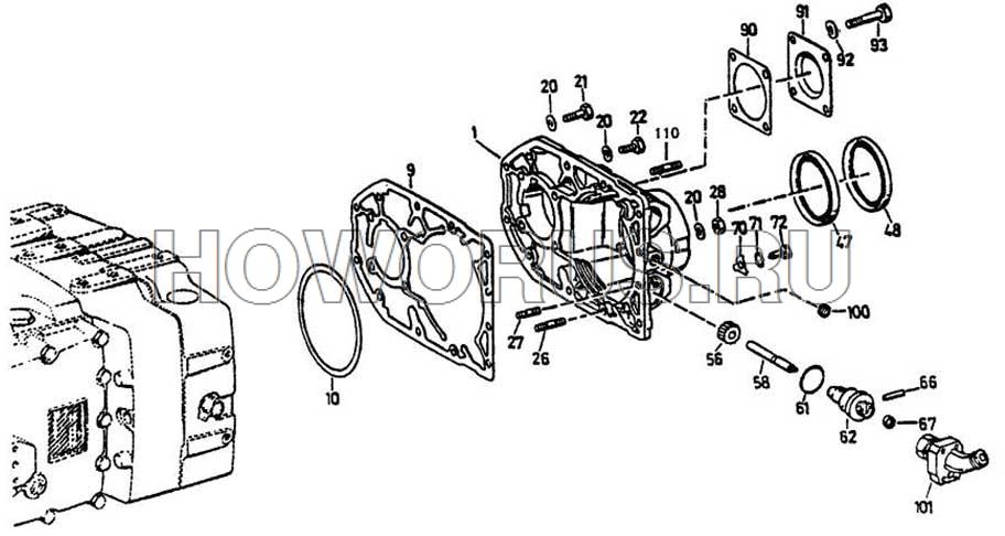 задняя крышка коробки передач ZF