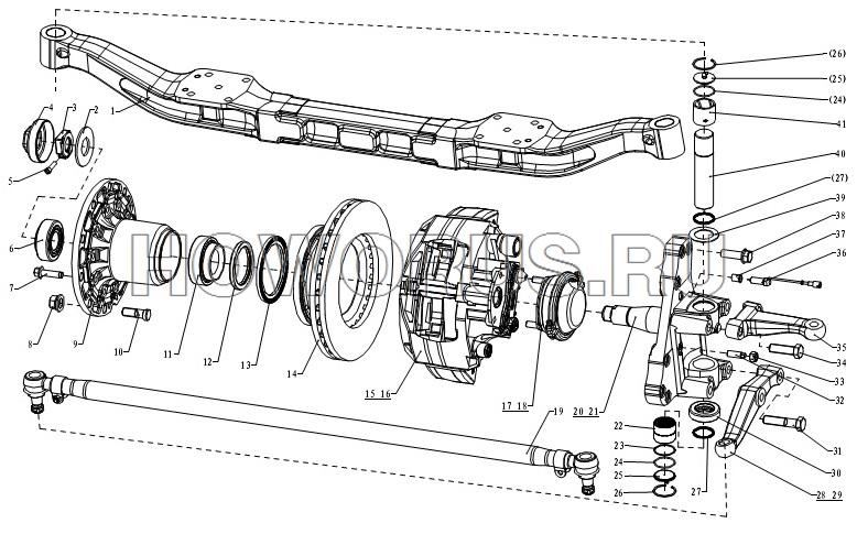 Передняя балка F3000