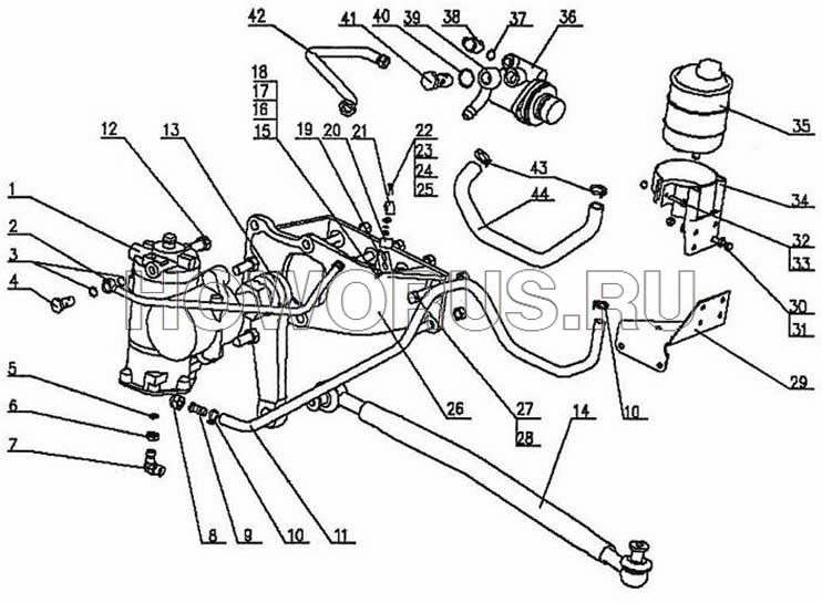 Гидроусилитель рулевого механизма HOWO 4x2, 6x4