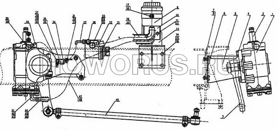 Гидроусилитель рулевого механизма HOWO 6x2