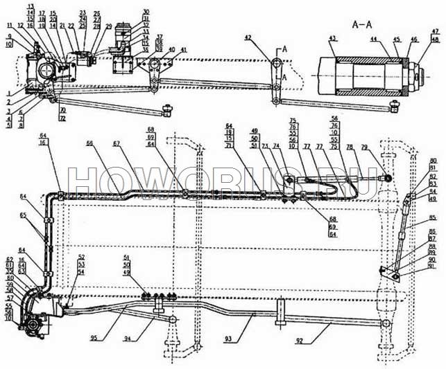 Гидроусилитель рулевого механизма HOWO 8x4