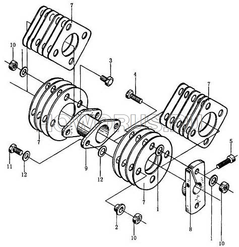 Муфта топливного насоса wd615