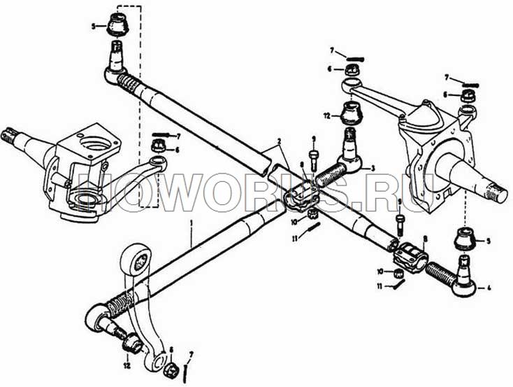 Рулевая тяга HOWO 4x2,6x4
