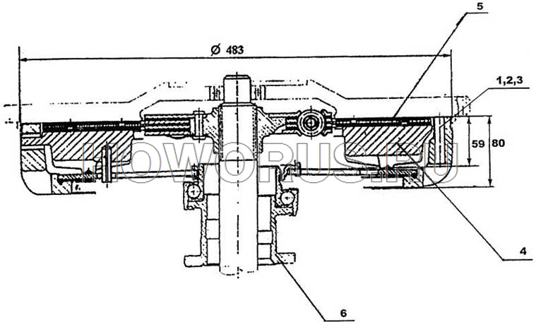 Сцепление с диском Ø430 HOWO