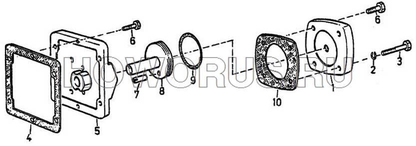 Сцепление и тормоз КПП FULLER