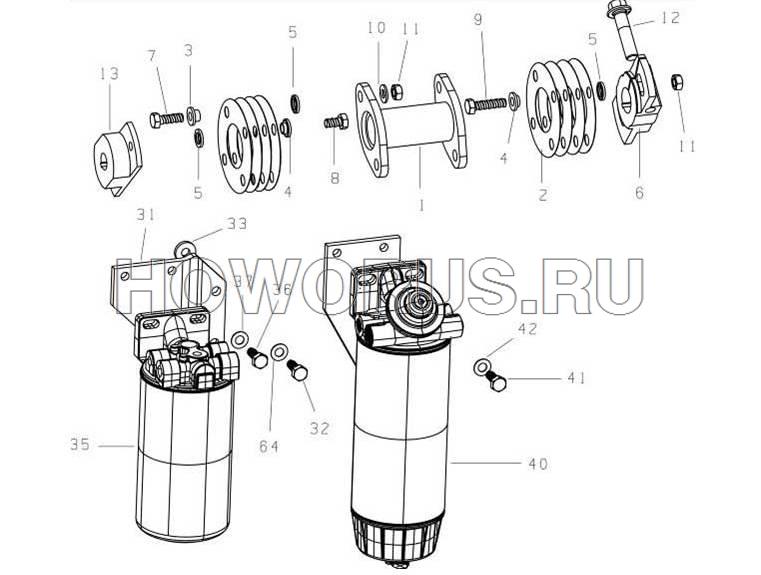Топливный фильтр и привод ЕВРО 3