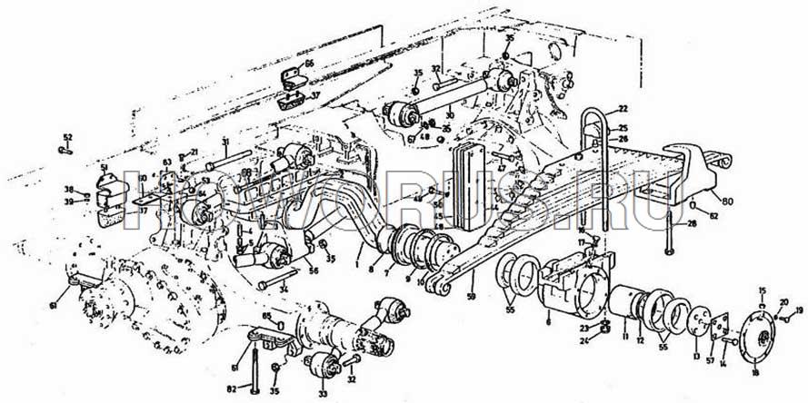 Балансирная подвеска 6х4 8х4