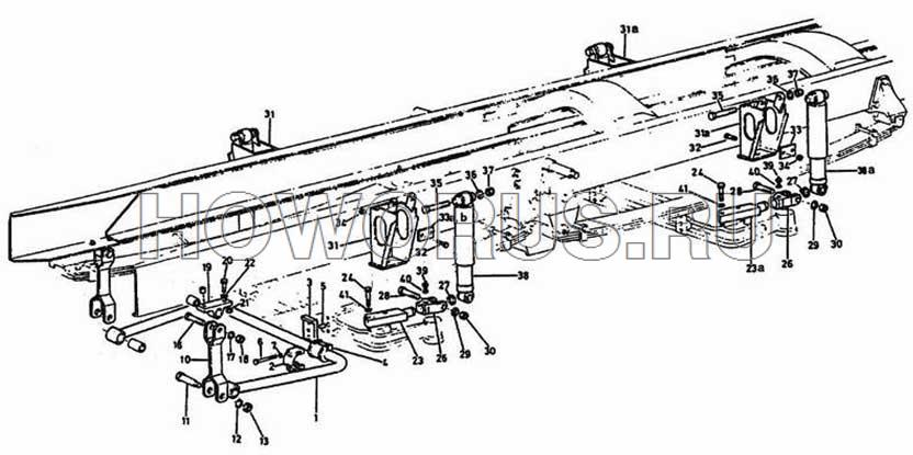 Передний стабилизатор поперечной устойчивости и амортизатор 8x4