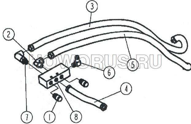 Клапан воздушный в сборе КПП 160 JS160-1703050 SHACMAN