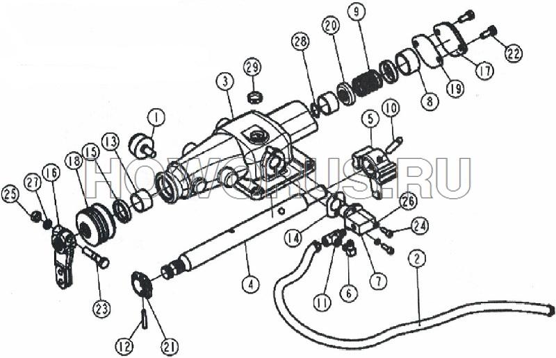 Механизм переключения КПП 160 SHACMAN