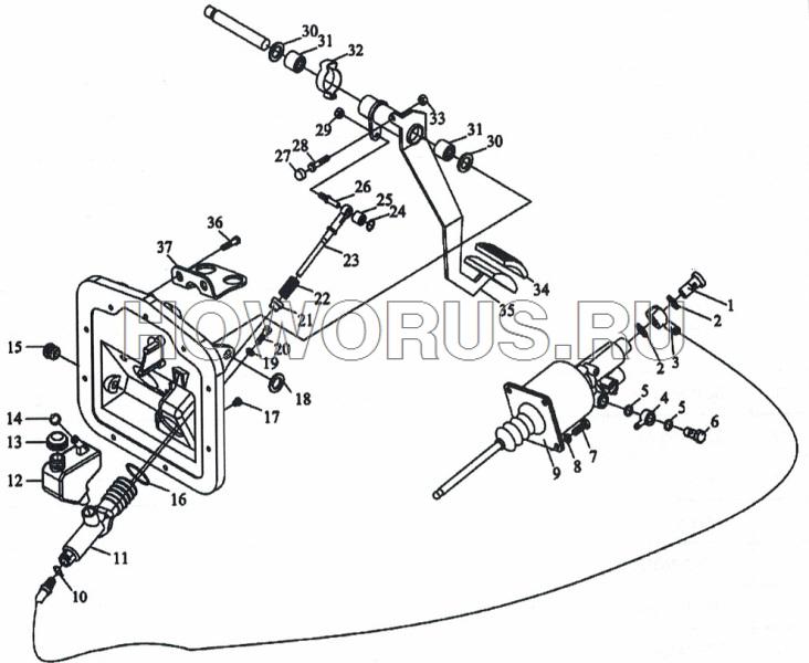 Механизм привода сцепления SHACMAN