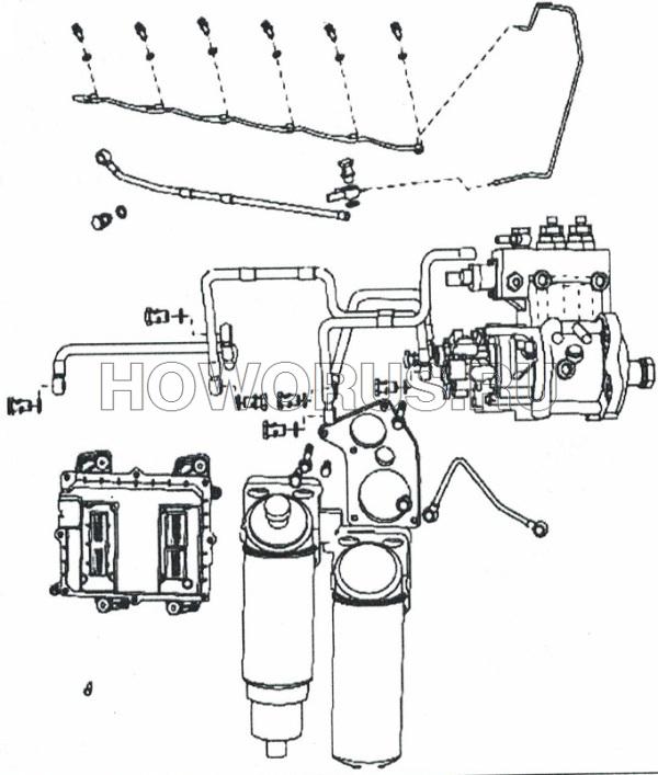 Система подачи топлива WP12 SHACMAN